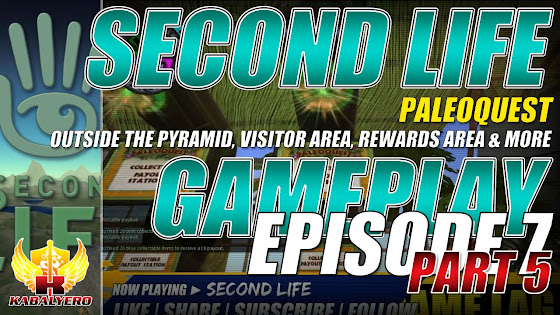 Second Life Gameplay ★ PaleoQuest → Outside The Pyramid, Visitor Area, Rewards Area & More