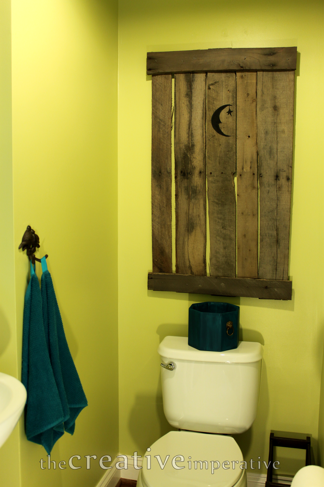 The Creative Imperative: A Bathroom Update: The Chartreuse Outhouse