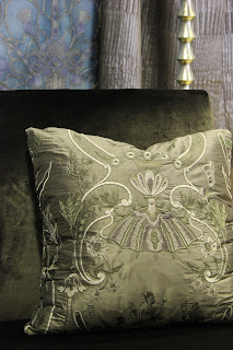 Embroidered silk cushion custom made, interior decorator brisbane, luxury homes, queenslands best homes