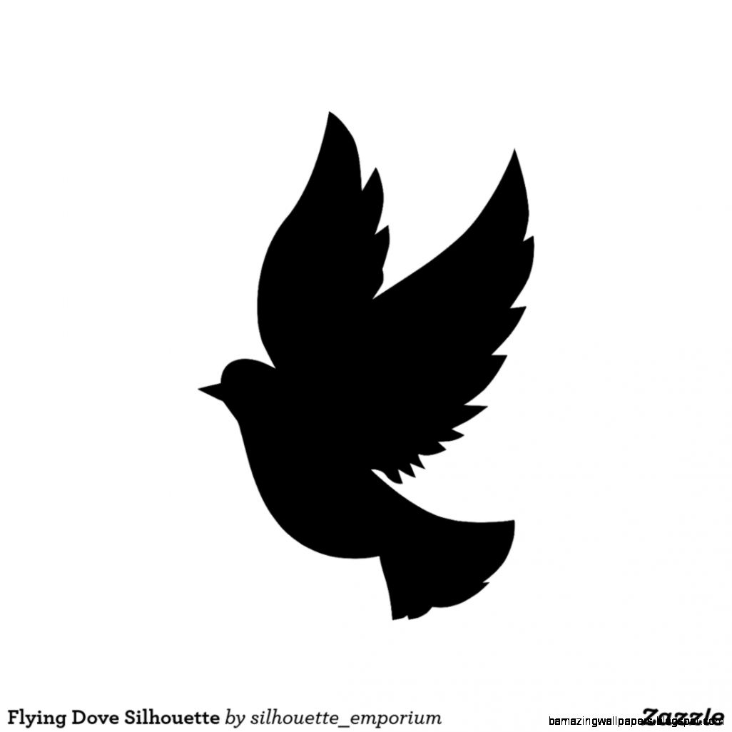 Flying Dove Silhouette Canvas Print  Zazzle