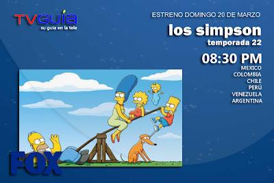 DOM 20/MAR: Nueva Temporada de Los Simpson en FOX
