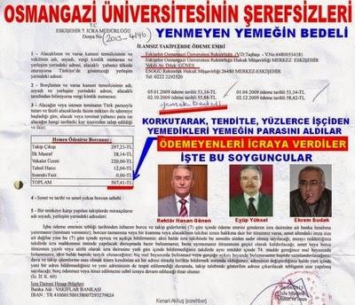 OSMANGAZİ ÜNİVERSİTESİ'Nİ SOYANLAR BAKIN KİMLER