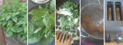 Zubereitung Brennnesseltoast mit weichem Ei
