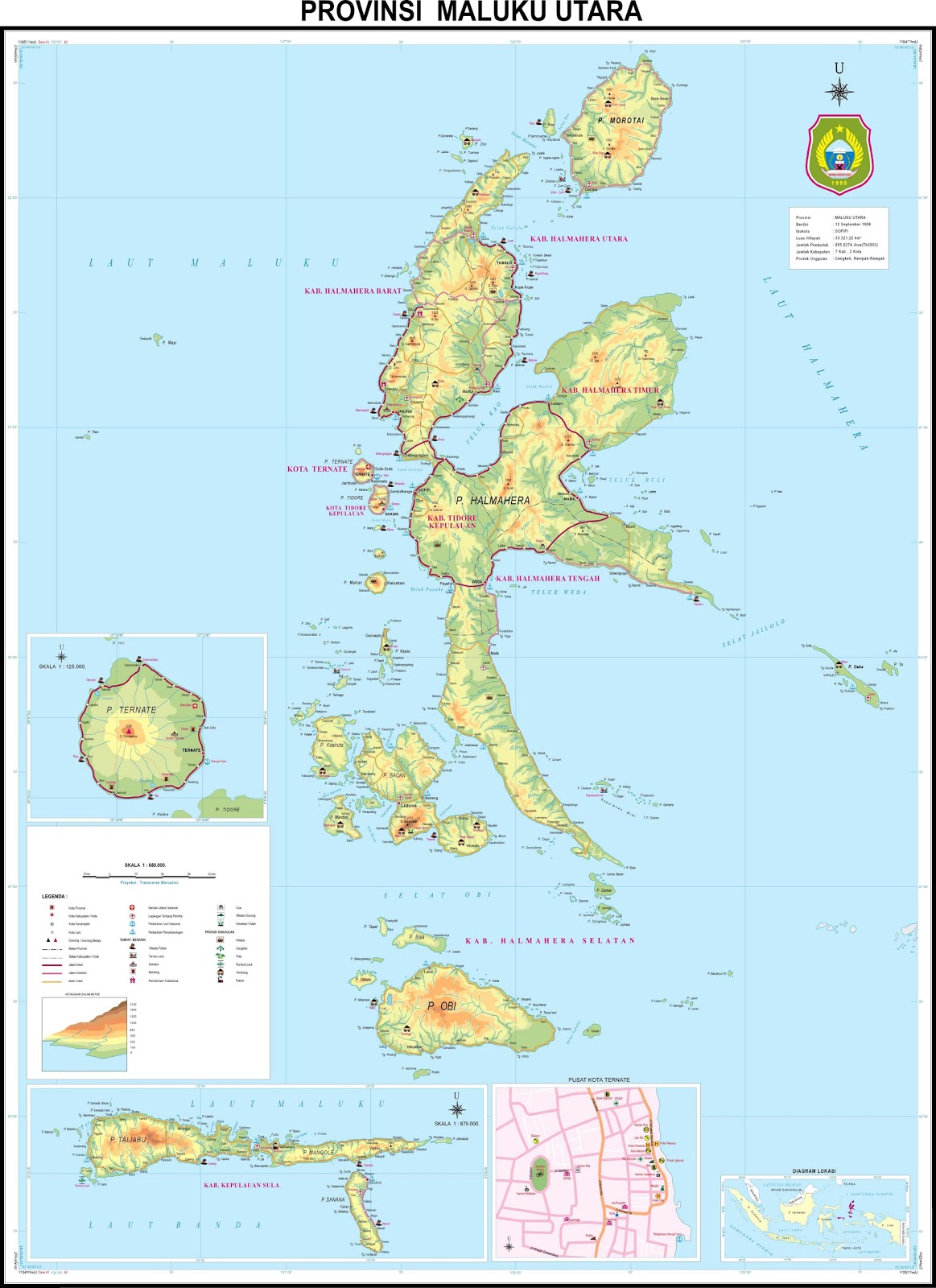 For high resolution please open file at North Maluku province map