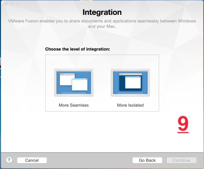 wmware fusion 7 pro integration