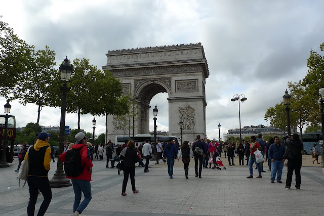 paris Arc de Triomphe and the champ elysees