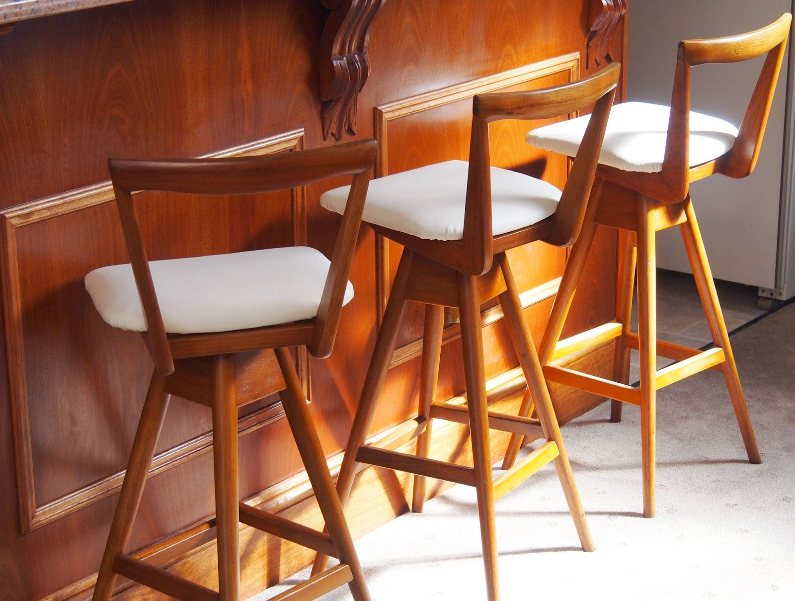 bar stools re-purposed