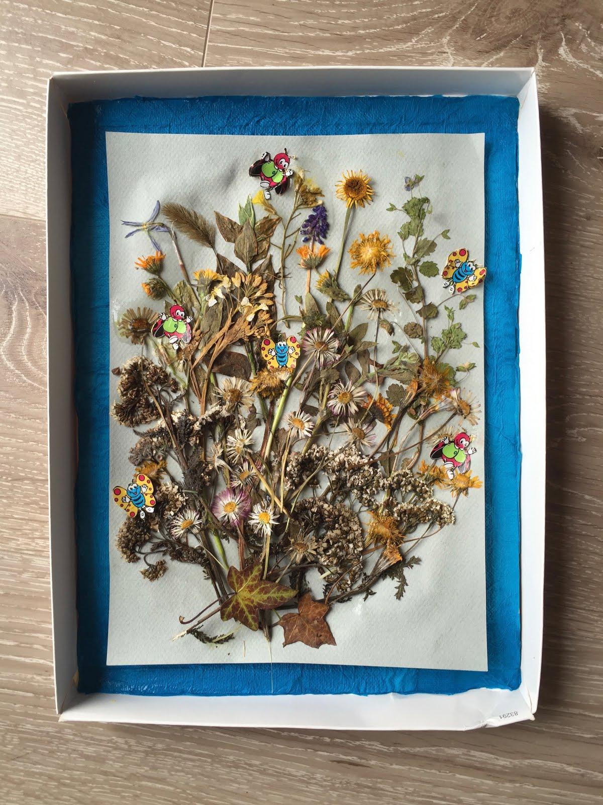 tableau fleurs sechees