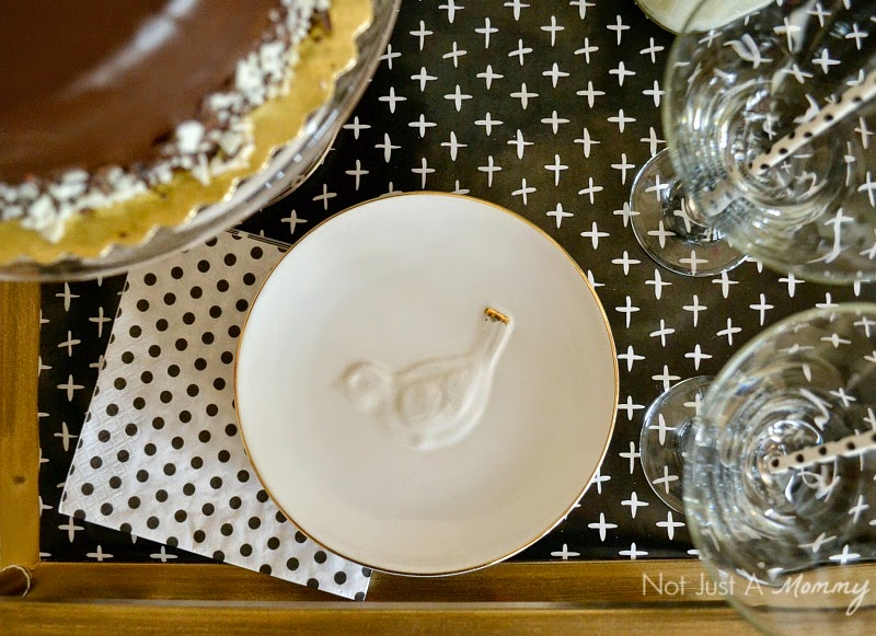 Black And White Graduation Dessert Bar with Whisker Graphics appetizer plates