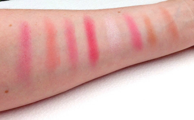 makeup revolution sugar and spice blush contour palette swatch swatches