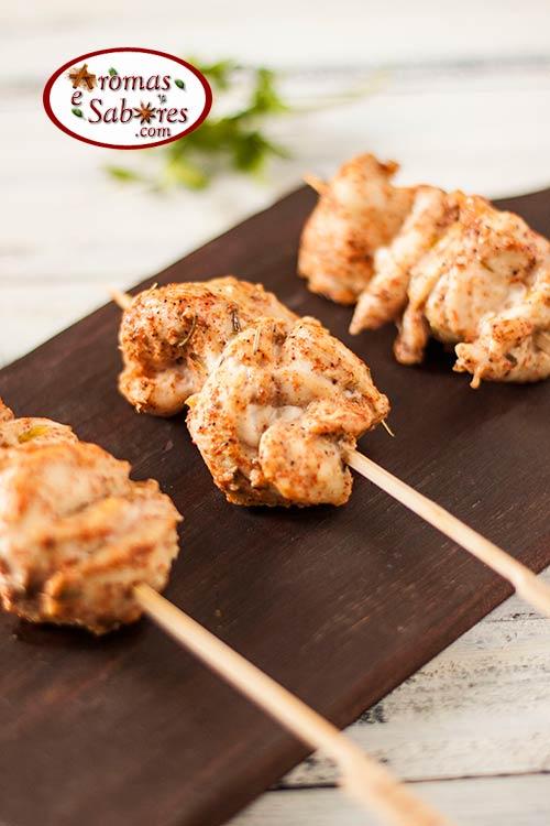 espeto de frango para churrasco