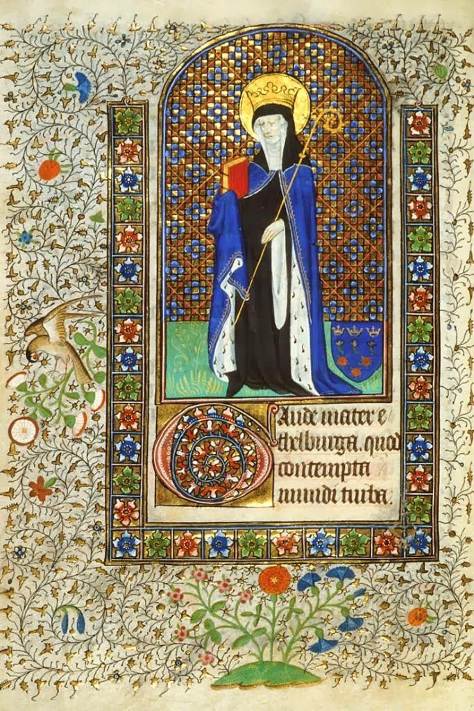 «Gaude mater Ethelburga», British Library Harley 2900, f.68v