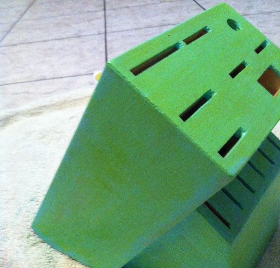 Painted Knife Block: The New Adventures Of An Ex-Staff Sergeant: DIY