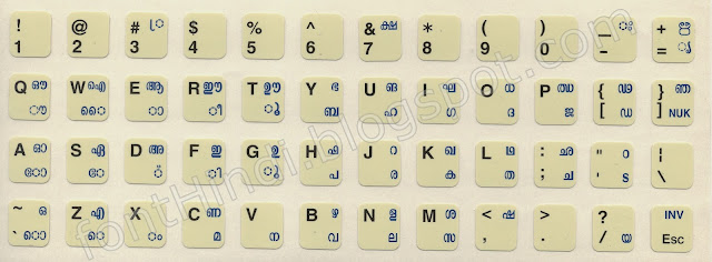 INscript Keyboard Layout for Malayalam