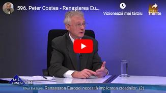 Credo TV: Peter Costea - Renașterea Europei necesită implicarea creștinilor (1&2)