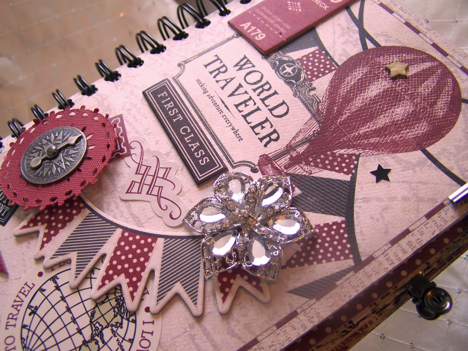How to make scrapbook journal - Front Cover