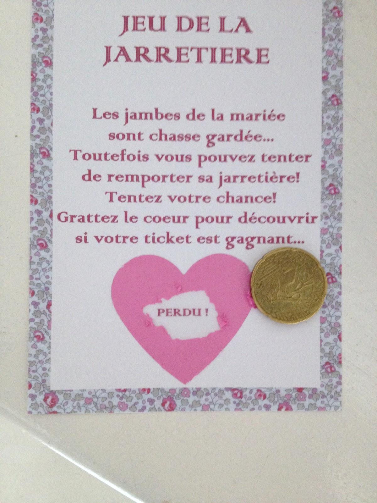 Top Les moineaux de la mariée: DIY : Le ticket gagnant TS98