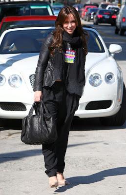 Jennifer Love Hewitt with Alexander Wang Rocco Duffel Bag