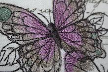 Detalj av sommerfugl pute
