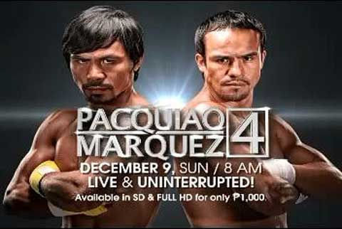 Pacquiao vs Marquez 4 - Sky Cable, Cignal, Global Destiny, Cablelink