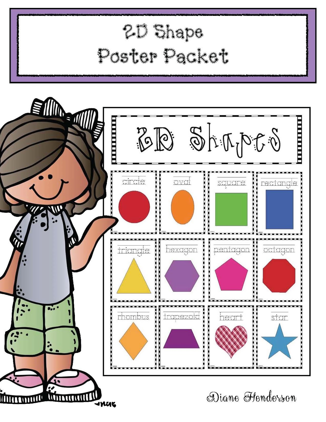 2d Shapes Poster Packet Classroom Freebies