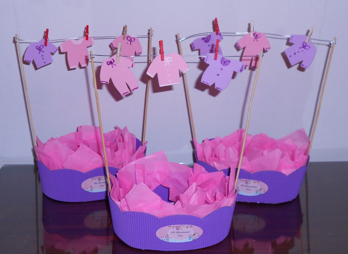 Centro de mesa baby shower ni a for Centro de mesa baby shower