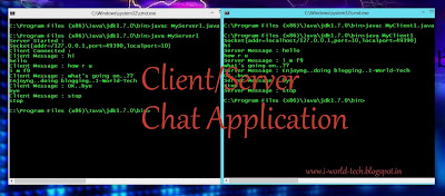 client/server chat Application