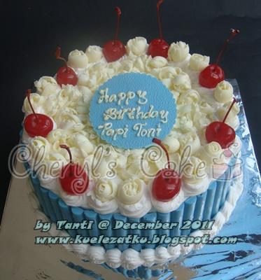 kue ulang tahun anak cupcake birthday cake blue and
