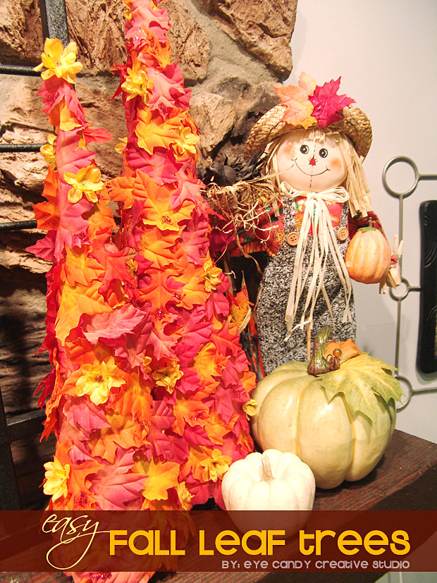 how to make a fall leaf tree, fall crafting, quick craft, fall leaves, mantwl decor