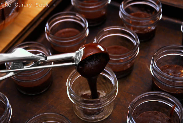 Scoop Brownie Mix Into Jars