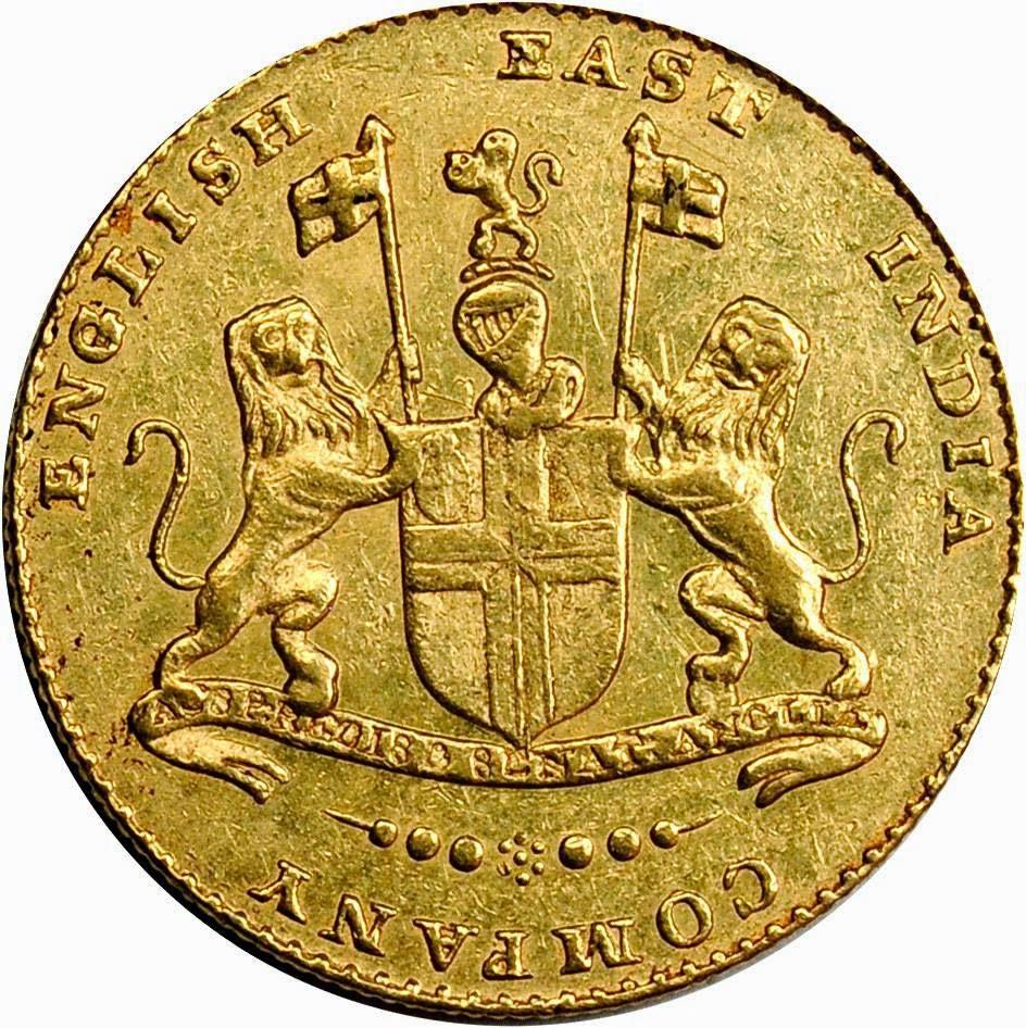 Ashrafi Mohur Gold Coin British East India Company coins