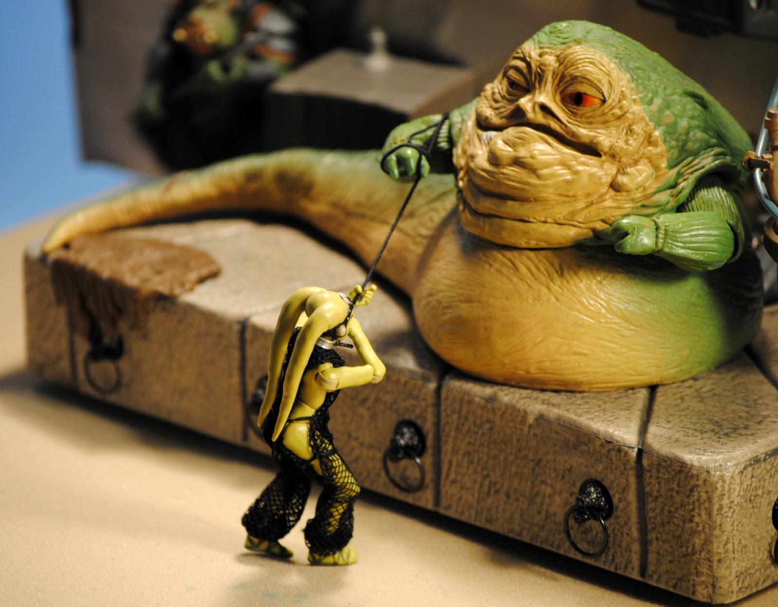 ACTION FIGURE EMPIRE Jabba The Hutt And Oola