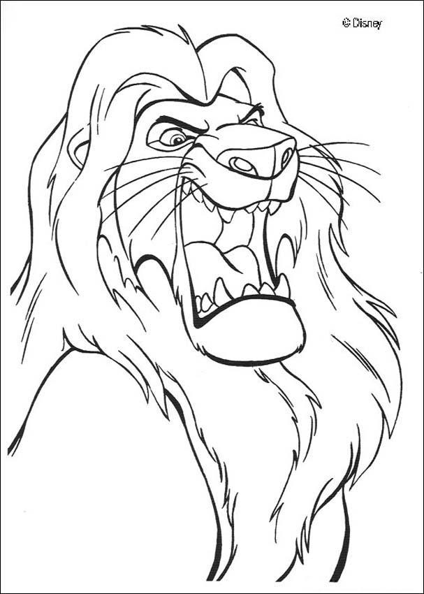 Rei leao imagens para colorir