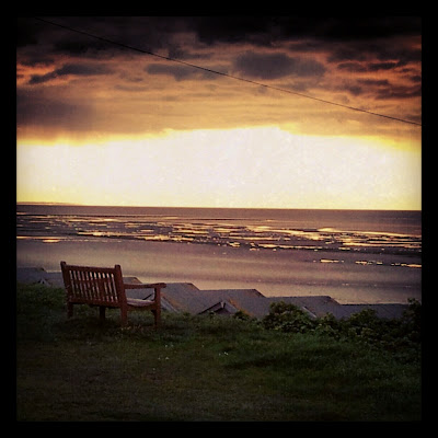 sunset, stormy sunset, beach sunset, Birchington, minnis bay