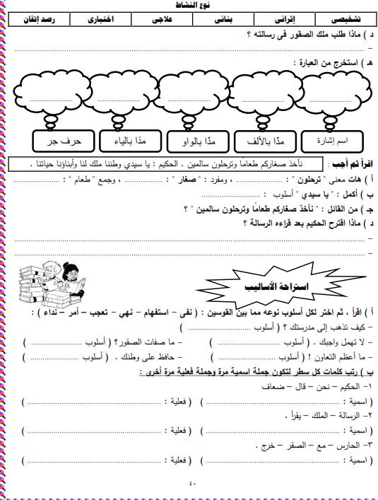 شيتات المجموعة المدرسية لمادة اللغة العربية للصف الثالث الابتدائى على هيئة صور للمشاهدة والتحميل The%2Bthird%2Bunit%2B3%2Bprime_007