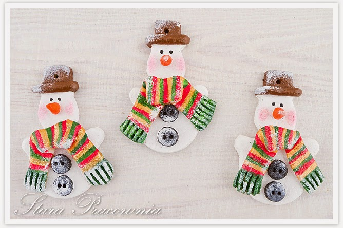 snow man hand craft