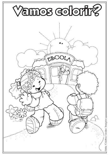 Desenho de Volta às aulas para colorir