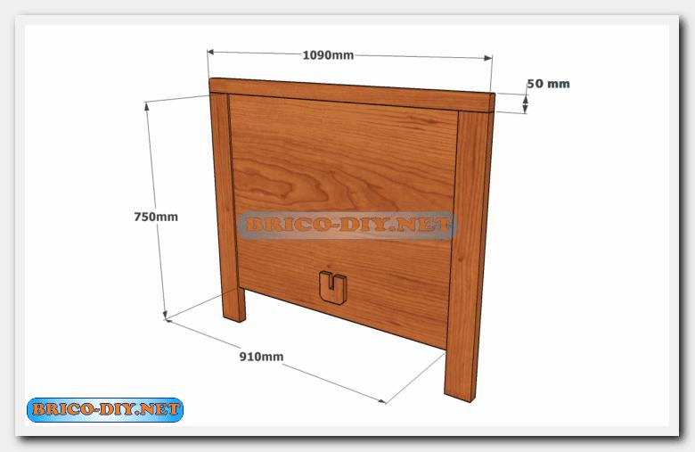 Camas de madera plano con medidas de una plaza y media for Precio cama una plaza