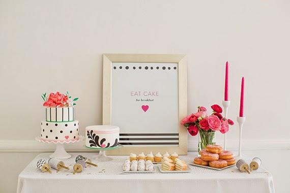 Fiesta de chicas en rosa - mesa personalizada6