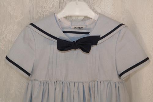 ljusblå sjömansklänning