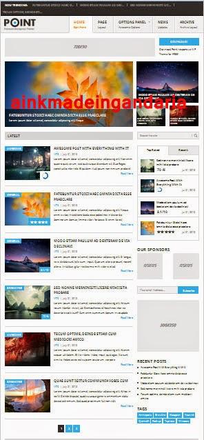 Magazine Template Wordpress SEO Friendly and Responsif