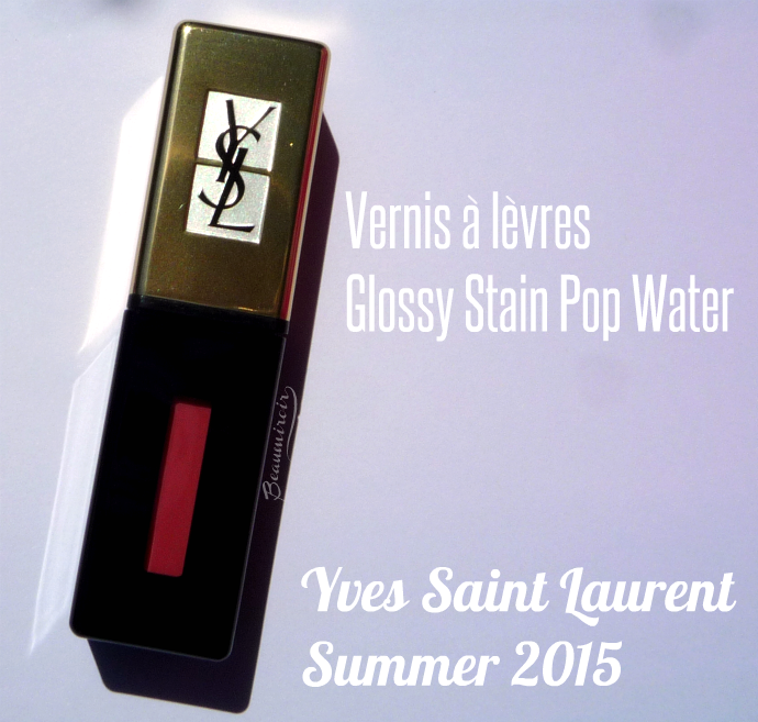 YSL Glossy Stain Pop Water in Eau de Corail #203 photos, review, swatches