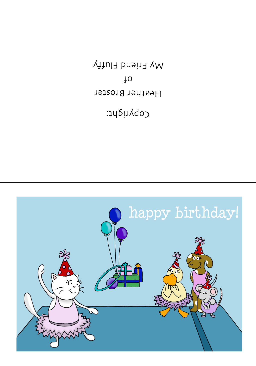 Ivys Birthday Greeting Cards to Print