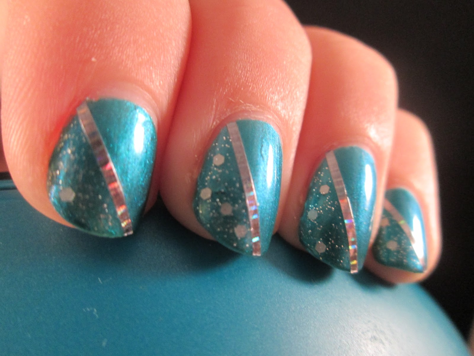PiggieLuv Turquoise Chique Nail Art