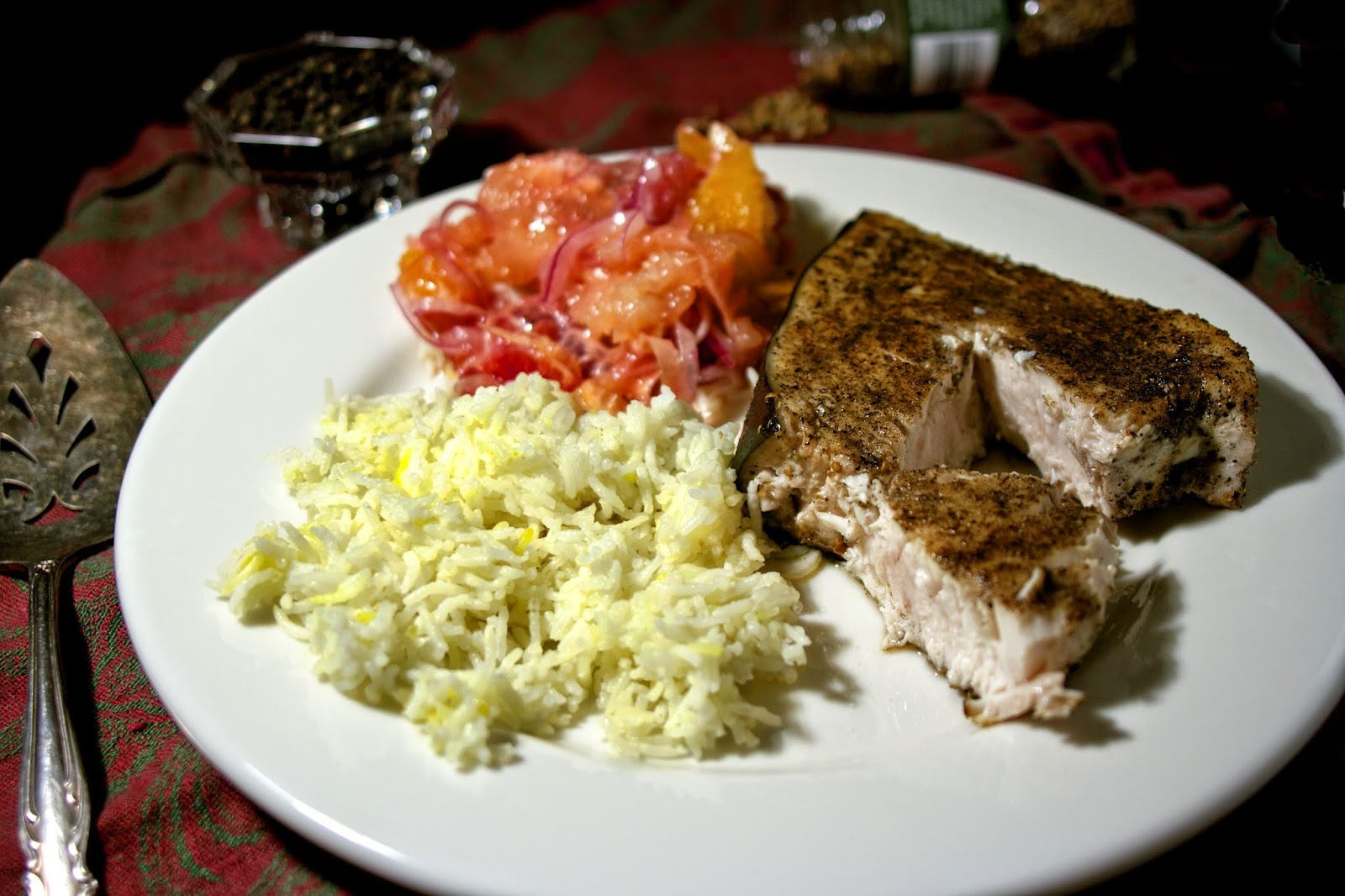 Spice-Crusted Swordfish- simplelivingeating.com