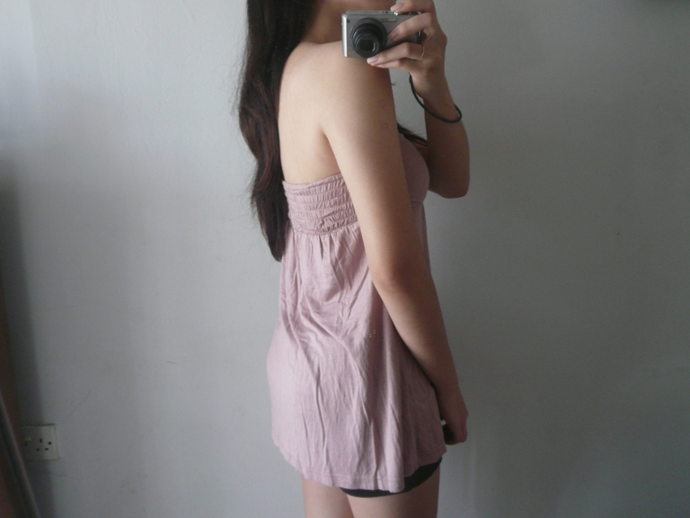 Nude Toga Tank Top. Size: Free, fits S>M Price: RM29