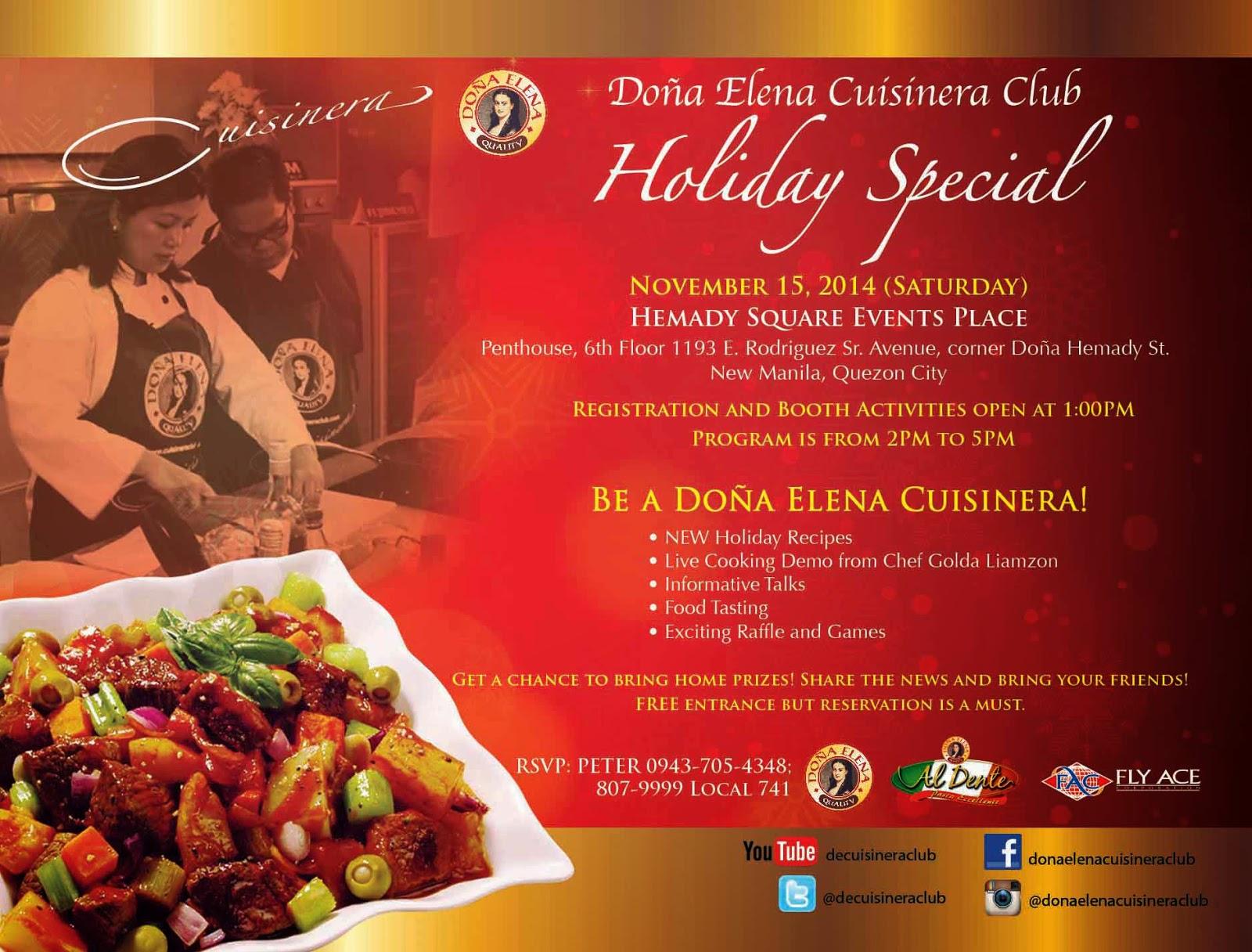Celebrate Holiday Season with Dona Elena Cuisinera Cub