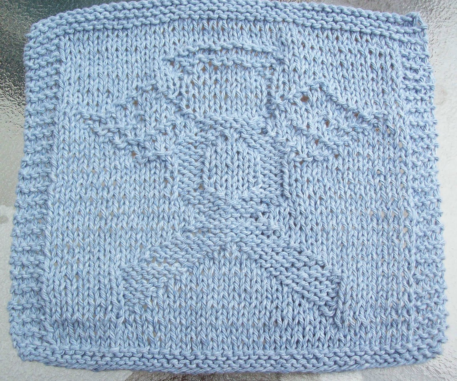 Knitting Pattern Angel : DigKnitty Designs: Cause Angel Knit Dishcloth Pattern