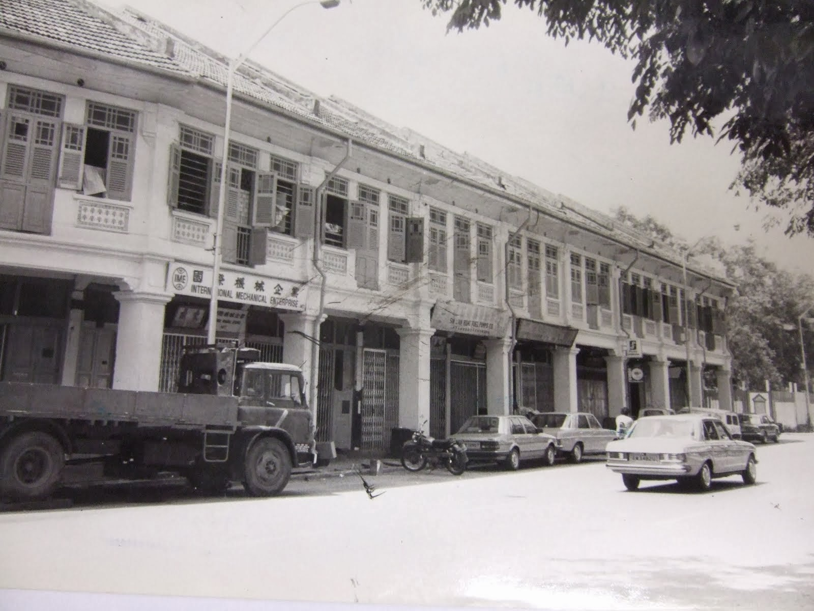 Old shophouses