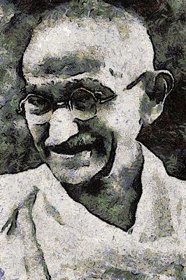 Mahatma Gandhi (Lídia M. Nogales)